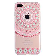 billiga Mobil cases & Skärmskydd-fodral Till Apple iPhone X / iPhone 8 Plus Genomskinlig / Mönster Skal Mandala Mjukt TPU för iPhone X / iPhone 8 Plus / iPhone 8