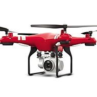 RC Drone FLYRC X52HD 4 Kanaler 6 Akse 2.4G Med HD-kamera 2.0MP 1080P*720P Fjernstyret quadcopter LED Lys / En Knap Til Returflyvning / Auto-Takeoff Fjernstyret Quadcopter / Fjernstyring / Kamera