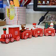 tanie Dekoracje-Dekoracje świąteczne Dekoracje świąteczne Figurki świąteczne Biały / Czerwony / Zielony 1 zestaw