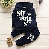 Dječaci Pamuk Akril Slovo Sva doba Dugih rukava Komplet odjeće Slatko Ležerne prilike Aktivan Navy Plava Sive boje