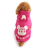Pes mikiny Oblečení pro psy Roztomilý Zahřívací Komiks Černá Růžová Kostým Pro domácí mazlíčky