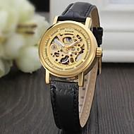 WINNER Dámské Módní hodinky Hodinky k šatům Náramkové hodinky Automatické natahování S dutým gravírováním Kůže Kapela Vintage Na běžné