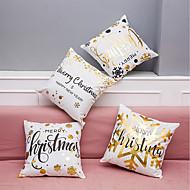 tanie Zestawy poduszki-4.0 szt Aksamit Naturalne / ekologiczne Poliester Poszewka na poduszkę Pokrywa Pillow, Wzorzyste Litera Textured Art Deco/Retro