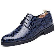 お買い得  紳士靴-男性用 靴 レザー 春 / 秋 コンフォートシューズ オックスフォードシューズ ブラック / ブルー