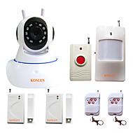 Sistema de segurança de alarme sem fio Wifi sem fio konlen® para câmera de intruso anti roubo com gravação de vídeo com sensor de 433mhz