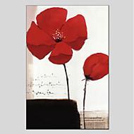 billige -Håndmalte Blomstret/Botanisk Andre Et Panel Lerret Hang malte oljemaleri For Hjem Dekor