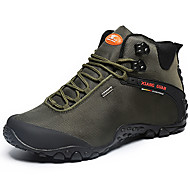 cheap Women's Athletic Shoes-Unisex Shoes Leather Canvas Winter Fall Comfort Athletic Shoes Hiking Shoes Flat Heel for Athletic Outdoor Black Green