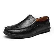 baratos Sapatos de Tamanho Pequeno-Homens Pele Primavera / Outono Conforto Mocassins e Slip-Ons Preto / Amarelo / Marron