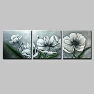 billiga Blom-/växtmålningar-Hang målad oljemålning HANDMÅLAD - Blommig / Botanisk Enkel Moderna Inkludera innerram / Sträckt kanfas