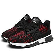 baratos Sapatos Masculinos-Homens Tricô / Couro Ecológico Verão / Inverno Conforto Tênis Preto / Cinzento / Vermelho