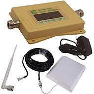 mini intelligent LCD-skjerm dcs980 1800mhz mobiltelefon signal booster repeater med utendørs panel antenne / innendørs pisk antenne gul