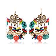 Dame Onyks Dråpeøreringer Naturstein øredobber damer Vintage Elegant afrikansk Smykker Regnbue Til Avslappet Ut på byen