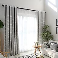 Pakkingring Bovenkant Dubbel Geplooid Potlood Geplooid Window Behandeling Hedendaagse Informeel , Bloemen Slaapkamer Polyester Materiaal