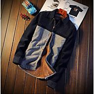 Masculino Camisa Social Para Noite Casual Moda de Rua Inverno Outono,Estampa Colorida Algodão Poliéster Colarinho Clássico Manga Longa