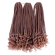 Twist Vlechten 3-delig Haarvlechten Afro Senegalese twist 45cm Synthetisch haar Medium Brown / Strawberry Blonde Medium bruin Zwart blauw