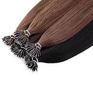 neitsi 20 '' anneau de nano pointe de boucle remy extensions de cheveux humains de 50g / lot g / droite