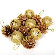 Joulukoristeet Joulujuhlatarvikkeet Joulukuusenkoristeet Lelut Pallo Loma Joulupukki-asu Aikuisten 12 Pieces