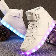 Damen Schuhe maßgeschneiderte Werkstoffe Kunstleder Alle Jahreszeiten Winter Komfort Leuchtende LED-Schuhe Sneakers Runde Zehe Für Normal
