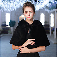 cheap -Sleeveless Faux Fur Wedding / Party / Evening Women's Wrap With Lace-up Capelets