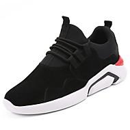 Masculino sapatos Cashmere Primavera Outono Conforto Tênis Corrida para Atlético Preto Cinzento Vermelho