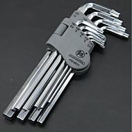 längerer Inbusschlüssel Satz runder Kopf T-Typ 5mm / 3mm6 Winkelkombination Schraubendreher neun Sätze von Werkzeugen Kugelkopf sechseckig
