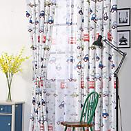 Propp Topp Dobbelt Plissert Blyant Plissert Window Treatment Moderne , Nyhet Stue Polyesterblanding Materiale Gardiner Skygge Hjem Dekor