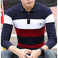 Majica s rukavima Muškarci - Aktivan Vikend Color block Kragna košulje Slim Pamuk