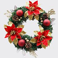 Jul krans 1 farver fyrrenåle juledekoration til 30cm homeparty diameter navidad nytår forsyninger