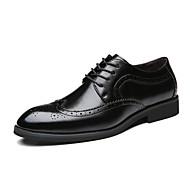 Masculino sapatos Couro Todas as Estações Sapatos formais Oxfords Para Casamento Preto Marron