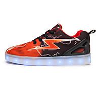 baratos Sapatos de Menino-Para Meninos sapatos Tecido Primavera Outono Conforto Tênis para Casual Preto Laranja Azul