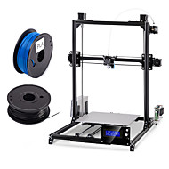 cheap 3D Printers-Flsun 300*300*420mm DIY 3d Printer Kit Large Printing Area  Auto Leveling Heated Bed Two Rolls Filament