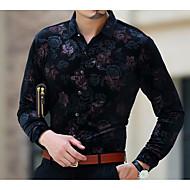 Majica Muškarci - Boho Cvjetni print Slim Pamuk