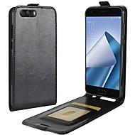 billiga Mobil cases & Skärmskydd-fodral Till Asus Zenfone 4 ZE554KL Zenfone 4 MAX ZC554KL Korthållare Lucka Fodral Ensfärgat Hårt PU läder för Asus Zenfone 4 ZE554KL Asus