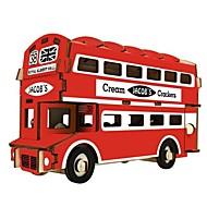 hesapli Modeller ve Model Kitleri-Ahşap Yapbozlar Ahşap Modeli Modely Ev Otobüs Çift katlı otobüs Doğum Dünü Sevgililer Günü Maskeli Balo Moda Yüksek kalite 6 - 7 Yaş