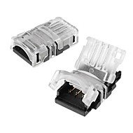 billige belysning Tilbehør-zdm 2pcs 4pin 10mm rgb wire kontakt for vanntett 5050rgb fargeledd fleksibel stripe lys