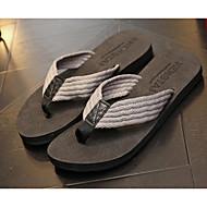 halpa -Miehet kengät Kangas Kevät Syksy Comfort Tossut & varvastossut varten Kausaliteetti Harmaa Ruskea Punainen