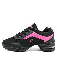 baratos Sapatilhas de Dança-Mulheres Tênis de Dança Malha Respirável Têni Salto Baixo Personalizável Sapatos de Dança Branco / Preto / Cinzento