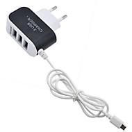 billige -Lille og mobil oplader USB oplader EU Stik Multiporte 3 USB-porte 3.1 A