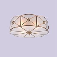 billige Taklamper-JLYLITE 4-Light Takplafond Omgivelseslys Olje-gnidd Bronse Metall Glass Mini Stil 110-120V / 220-240V Pære ikke Inkludert / E26 / E27