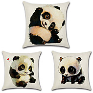 cheap Throw Pillows-Set Of 3 Kawaii Panda Printing Pillow Cover 45*45Cm Pillow Case Personality Cushion Cover