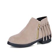 レディース 靴 PUレザー 冬 コンフォートシューズ コンバットブーツ ブーツ ラウンドトウ ミドルブーツ 用途 カジュアル ブラック ベージュ