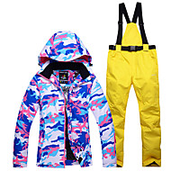 cheap -Snowy Owl Women's Ski Jacket with Pants Waterproof Thermal / Warm Windproof Ski / Snowboard Winter Sports Polyester Clothing Suit Ski Wear