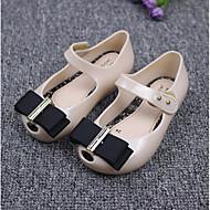 女の子 靴 PUレザー 秋 フラワーガールシューズ ボート用シューズ リボン のために カジュアル ブラック ベージュ