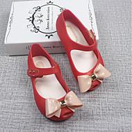 tanie Obuwie dziewczęce-Dla dziewczynek Obuwie Skóra PVC Lato Wygoda Sandały Tasiemka na Biały / Czarny / Czerwony