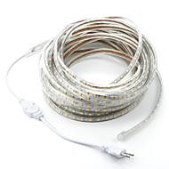 abordables -15m / 1pcs 220v 5050 a conduit noël lumière souple bande de corde de bande jardin extérieur étanche extérieur fiche eu