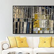 billige Innrammet kunst-Abstrakt Olje Maleri Veggkunst,Legering Materiale med ramme For Hjem Dekor Rammekunst Soverom Kjøkken