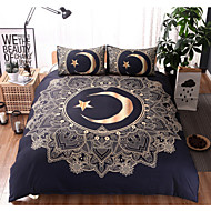 Duvet Cover Sets Contemporary 3 Piece Cotton Cloth Pigment Print Cotton Cloth 1pc Duvet Cover 2pcs Shams