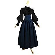 Outfits Vintage inspirirano Viktoriánus Kostim Žene Odrasli Djevojčice Suknja Bluza / Shirt Blue / crna Vintage Cosplay Pamuk Dugih rukava