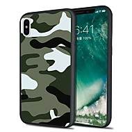 Case For Apple iPhone X / iPhone 8 Plus Pattern Back Cover Solid Colored / Camouflage Soft TPU for iPhone X / iPhone 8 Plus / iPhone 8