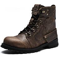 Muškarci Cipele Mekana koža Zima Jesen Vojničke čizme Modne čizme Kaubojke Čizme Čizme gležnjače / do gležnja za Kauzalni Vanjski Kava
